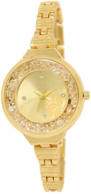 View iik LR 225 Rose Gold LR 224 Golden Watch  - For Women  Price Online