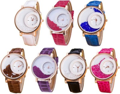 View SIMONE latest collation fancy and attractive seven color matching Watch  - For Girls  Price Online