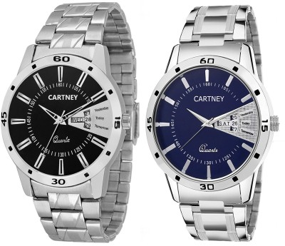 View Cartney Day & Date Pack of 2 Watch  - For Men  Price Online