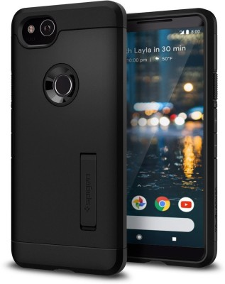 FOSO Back Cover for Google Pixel 2 XL(Black, Plastic)