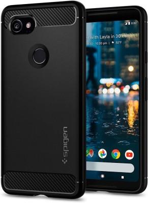 Unistuff Back Cover for Google Pixel 2(Black, Rubber)