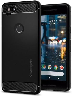 Spigen Back Cover for Google Pixel 2(Black, Rugged Armor, Plastic)