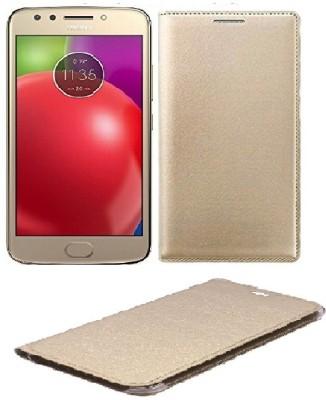 CASEHUNT Flip Cover for Motorola Moto E4 Plus(GOLD, Dual Protection, Leather)