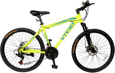 Vivid Smart Boy 26*2.10 Disc Brakes & Suspention Bike For Adults Yellow 26 T 21 Gear Mountain/Hardtail Cycle(Multicolor)