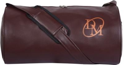 DEE MANNEQUIN Unisex Dark Brown Leathrite Gym Duffel Bag Brown DEE MANNEQUIN Duffel Bags