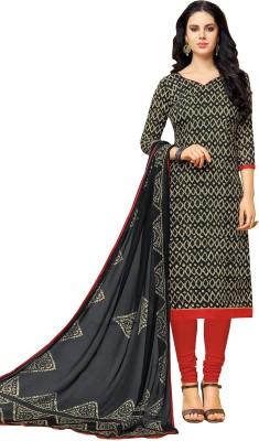 Viva N Diva Cotton Printed Semi-stitched Salwar Suit Dupatta Material Flipkart