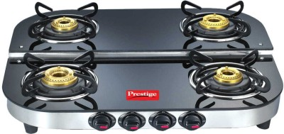 Prestige Glass Manual Gas Stove(4 Burners)