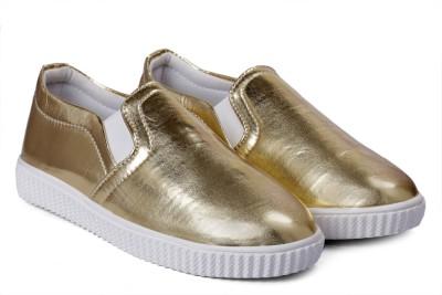 Paduki 7022 Metallics Slip On Sneakers For Women(Gold)