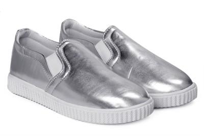 Paduki 7021 Metallics Slip On Sneakers For Women(Silver)