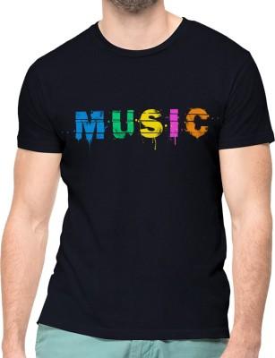 NUTSPIN Graphic Print Men Round Neck Black T-Shirt