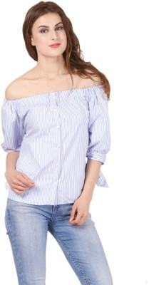 Sassy Stripes Casual 3/4th Sleeve Striped Women