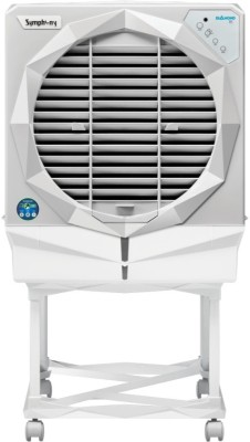 Symphony 61 L Desert Air Cooler(White, Diamond I With Trolley)