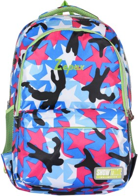 Buy Zepax Multi Colour Printed School and Casual Backpack Online at Best Price in India
