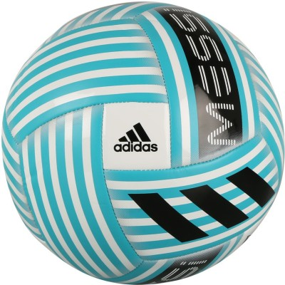 ADIDAS Messi Glider Football - Size: 5(Pack of 1, White, Blue, Black)