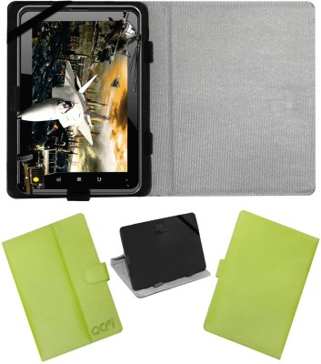ACM Book Cover for Fujezone Smart Tab A200(Green, Cases with Holder)