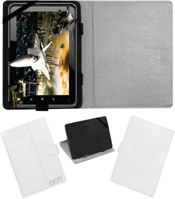 ACM Book Cover for Fujezone Smart Tab A200(White, Cases with Holder)