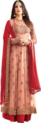 f5d8013f97 View Maiya Saree Georgette Embroidered, Solid, Applique, Chevron,  Houndstooth, Paisley,