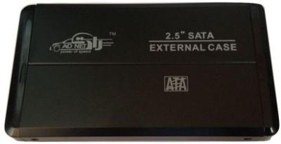 Adnet Usb 2.0 Black External portable Sata Casing Hard Disk case 2.5 External Hard Drive enclosure(For Laptop Hard Disk, Black)