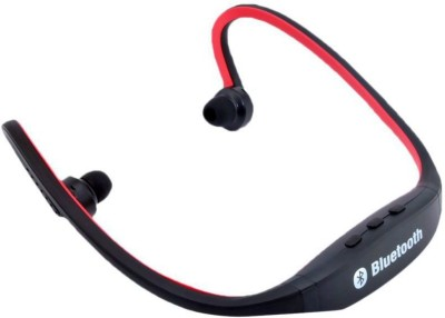 TSV BS19C Sports Headset With Mic Red Bluetooth Headset with Mic(Red, In the Ear) Flipkart
