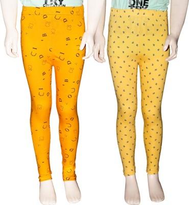 Ehiose Legging For Girls Yellow Pack of 2 Ehiose Kids\' Leggings and Churidars