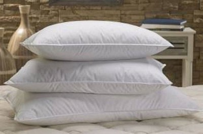 AKB EXPORTS Solid Bed/Sleeping Pillow Pack of 3(White)