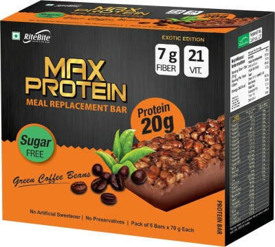 RiteBite Max Protein Meal replacement Protein Bars(420 g, Green coffe beans)