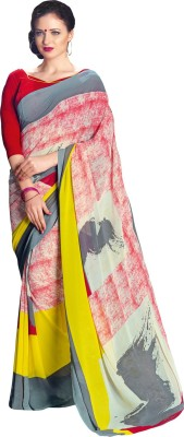Ratnavati Printed Daily Wear Georgette Saree(Multicolor)