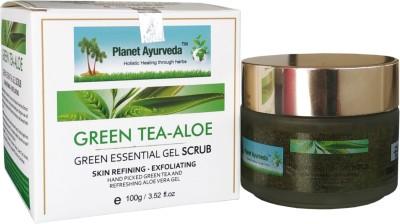 Planet Ayurveda Green Essential Gel Scrub (Green Tea Aloe) Scrub(100) 1