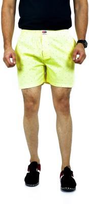 Active Basic Solid Men Yellow Boxer Shorts