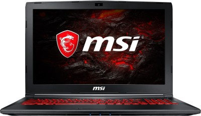 Image of MSI GL Series Core i7 7th Gen GL62M 7RDX-2680IN Gaming Laptop which is one of the best laptops under 80000