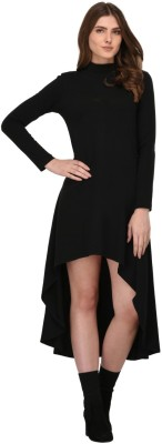 Rigo Women High Low Black Dress