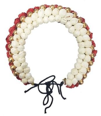 Majik South Indian Flowers Bridal Hair Gajra Hair Band(White)