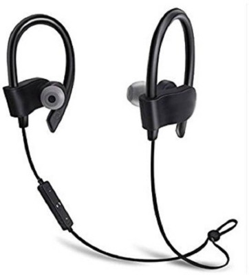 ewell Samsung Galaxy C7 Pro compatible Wireless Bluetooth Earphone Headphone with Mic, Sweatproof Sports Headset, Best for Running and Gym, Stereo Sound Quality with Ergonomic-Design By mobimintCombo of Wired Headphone/Earphone (black) with charger and data cable for all Smartphones Headset with Mic