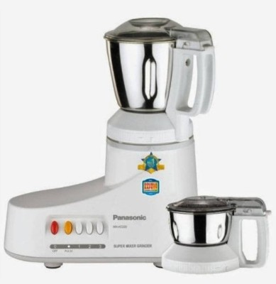 Panasonic MX-AC220H 550 Mixer Grinder(White, 2 Jars)  available at flipkart for Rs.4150