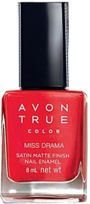 Avon Anew Satin Matte Finish Nail Paint, 8 ML Miss Drama