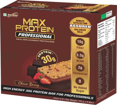 RiteBite Max Protein Professional Meal replacement Protein Bars(600 g, Choco Berry)