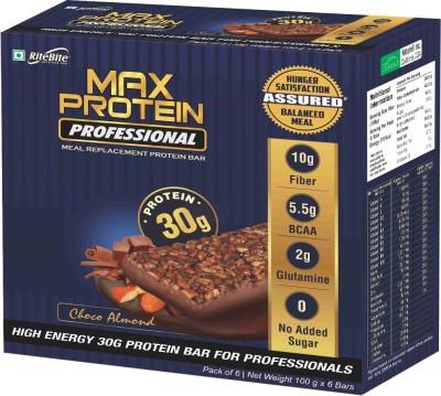 RiteBite Max Protein Professional Meal replacement Protein Bars(600 g, Choco Almond)