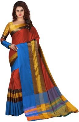 Trendz Style Striped Fashion Tussar Silk Saree Multicolor