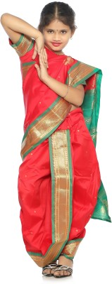 Bhartiya Paridhan Embellished Paithani Art Silk Saree(Red)  available at flipkart for Rs.999
