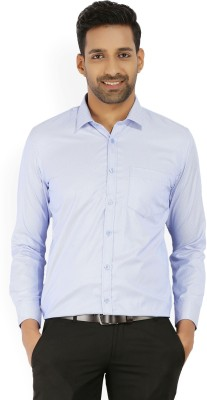 John Miller Men's Woven Formal Light Blue, White Shirt