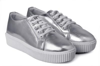 Paduki 7024 Metallics Sneakers For Women(Silver)