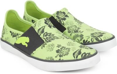 Puma NU Ballet DP Slip on Sneakers For Women(Green)