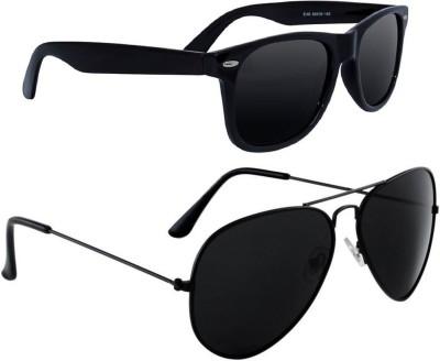 Deixels Aviator, Wayfarer Sunglasses(Black)