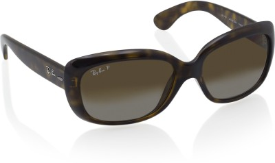 e8781b41ab4 20% OFF on Ray-Ban Rectangular Sunglasses(Brown) on Flipkart ...