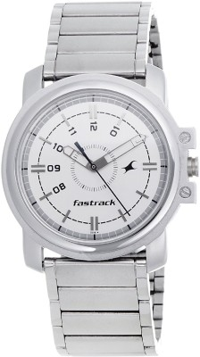 Fastrack NG3039SM01C Quartz White Round Men's Watch