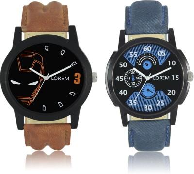 LOREM Best Designer Combo Hand Analog Watch   For Men LOREM Wrist Watches