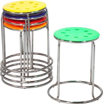 Lakdi Metal Bar Chair(Finish Color - Red)