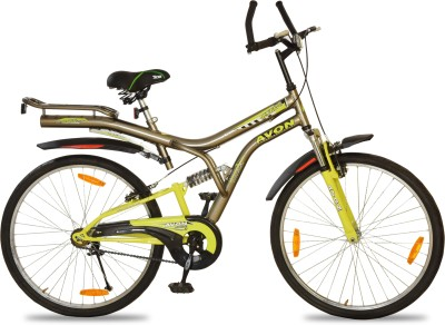 Avon NeoWave Dual Suspension 26 T Single Speed Mountain Cycle(Grey)  available at flipkart for Rs.5799