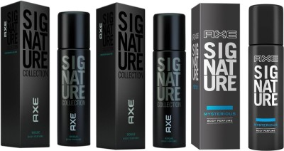 axe signature 2 rogue 1 mysterious combo pack Deodorant Spray  -  For Men(360 ml, Pack of 3)