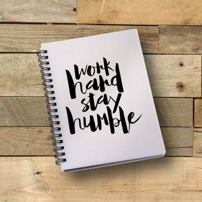 100yellow A5 Notebook(Notebook | Work Hard Stay Humble Printed Notebook | Motivational Quotes Printed | Designer Wire Bound Ruled Paper Sheets Personal And Office Stationary Notebooks Diary, Multicolor)  available at flipkart for Rs.249